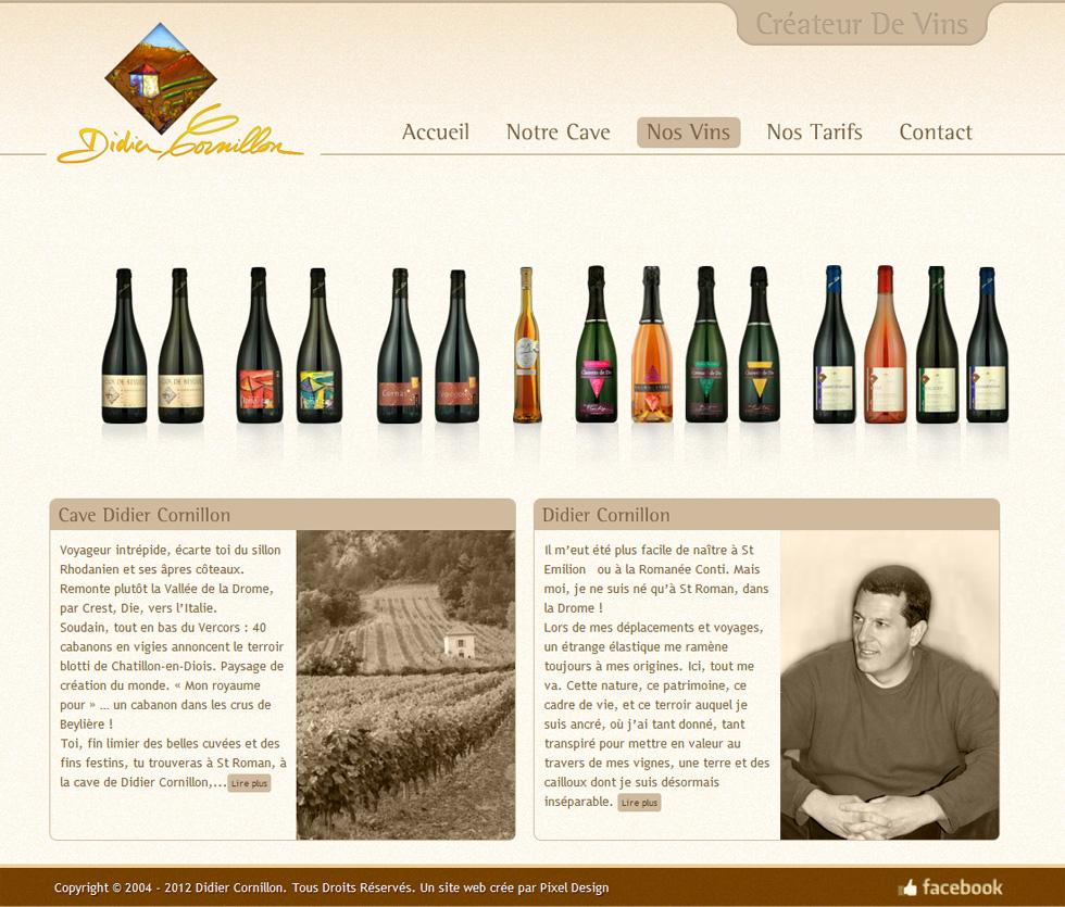 Webdesign Corporate, Didier Dornillon, Cave de vins en France