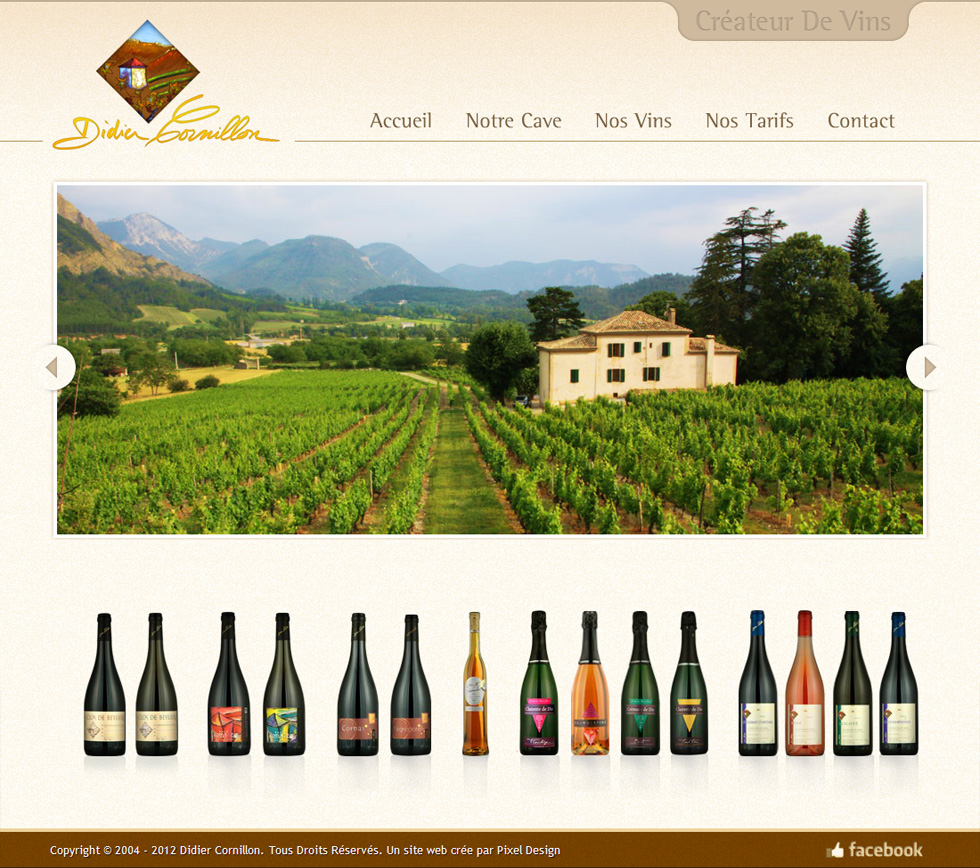 Webdesign Corporate, Didier Dornillon, Cave de vins en France.