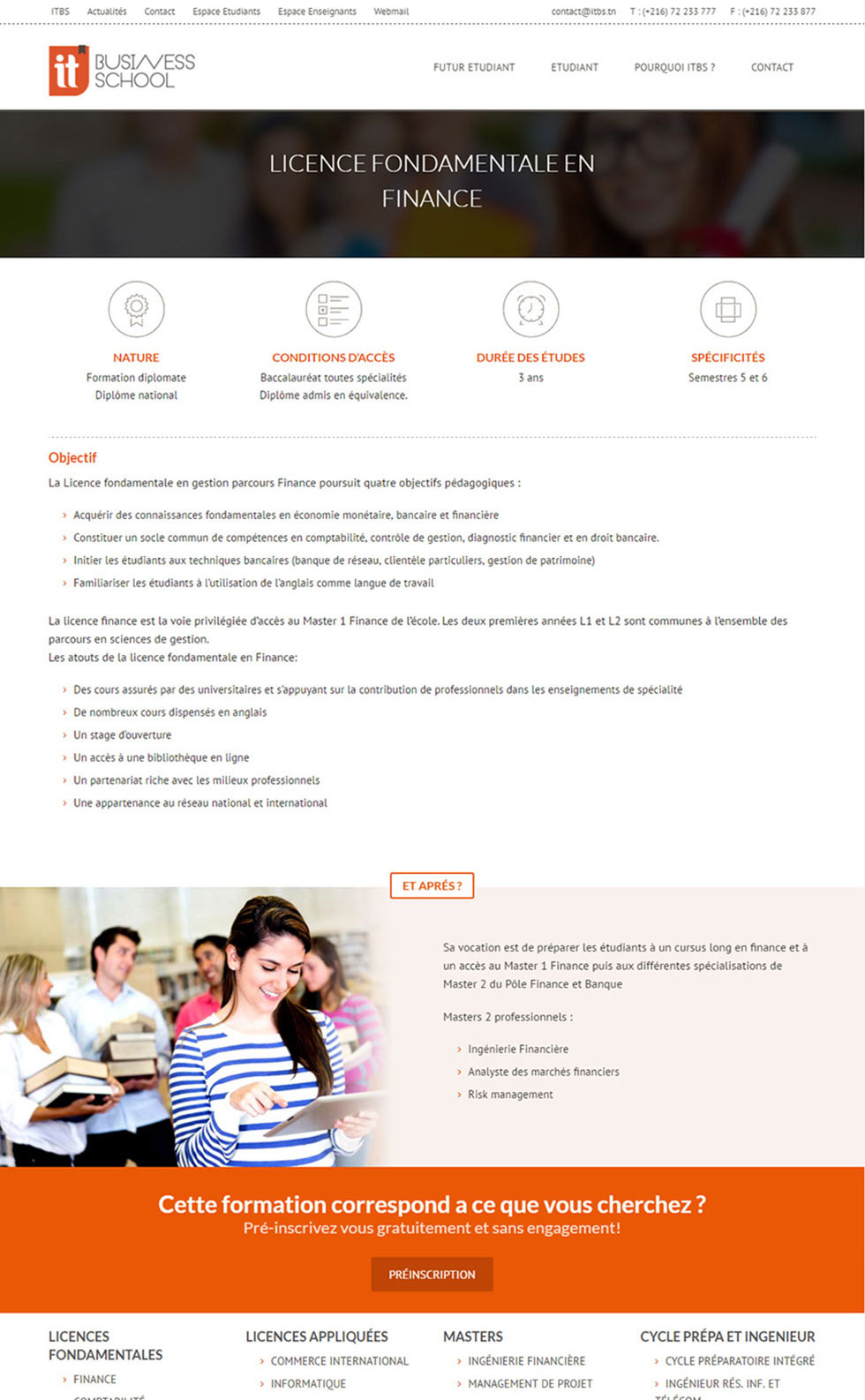 Webdesign Corporate, Itbs, Business School