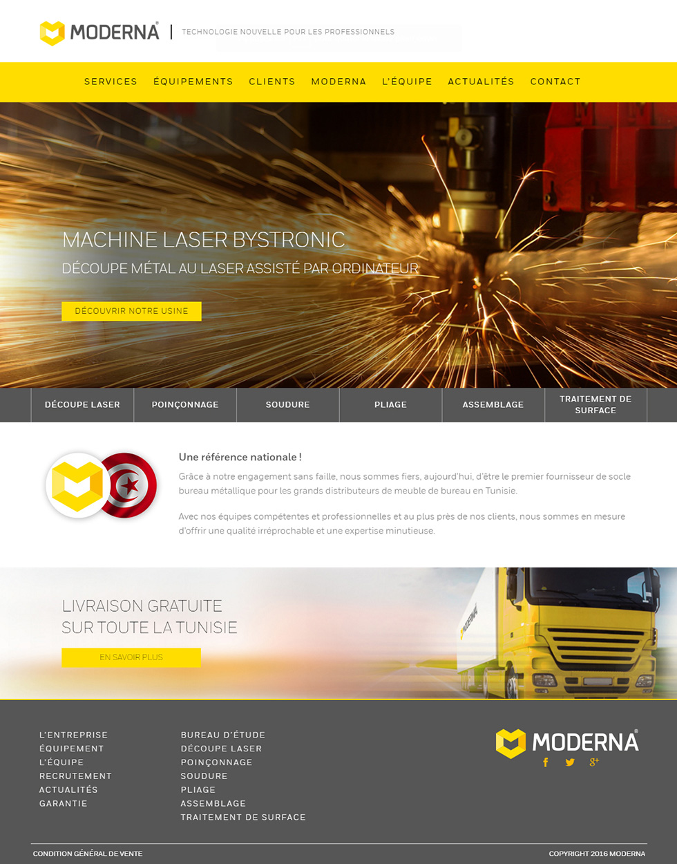 Webdesign Corporate, Moderna, Fabrication Métallique