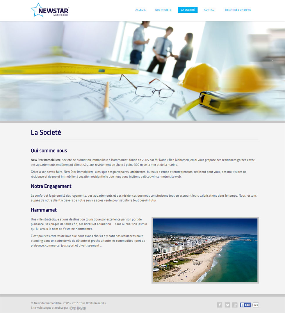 Webdesign Corporate, New Star Immobilière