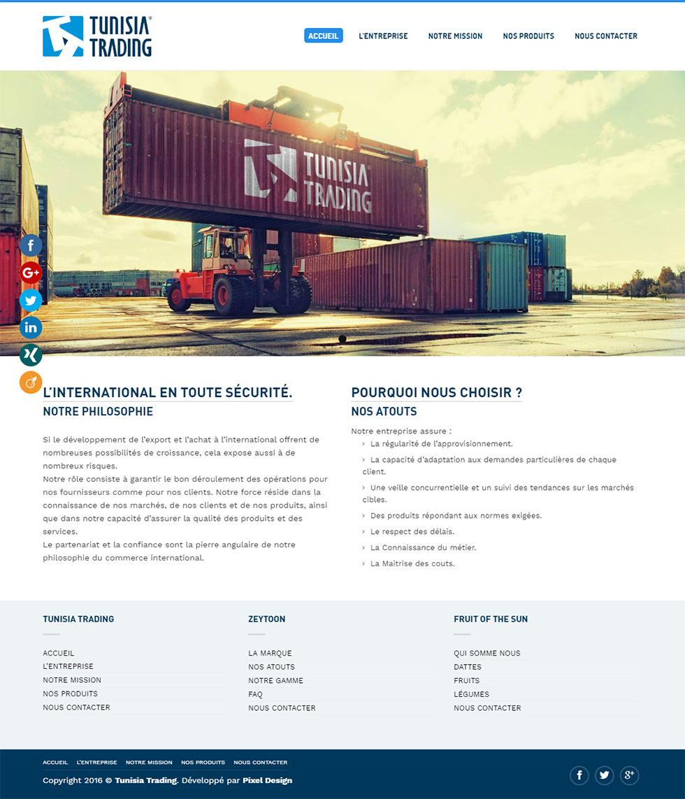 Webdesign Corporate, Tunisia Trading