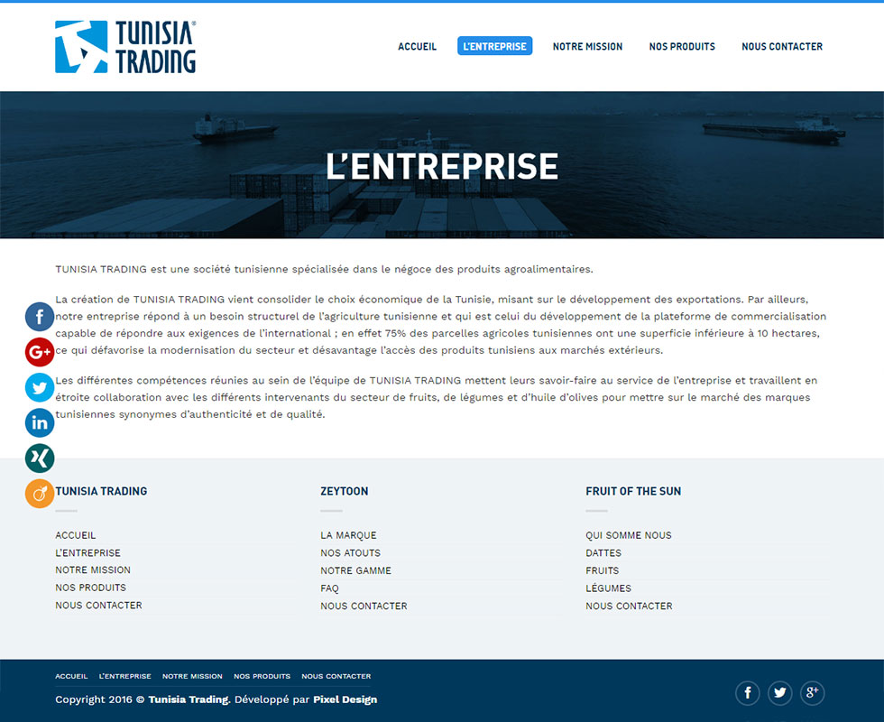Webdesign Corporate, Moderna, Tunisia Trading