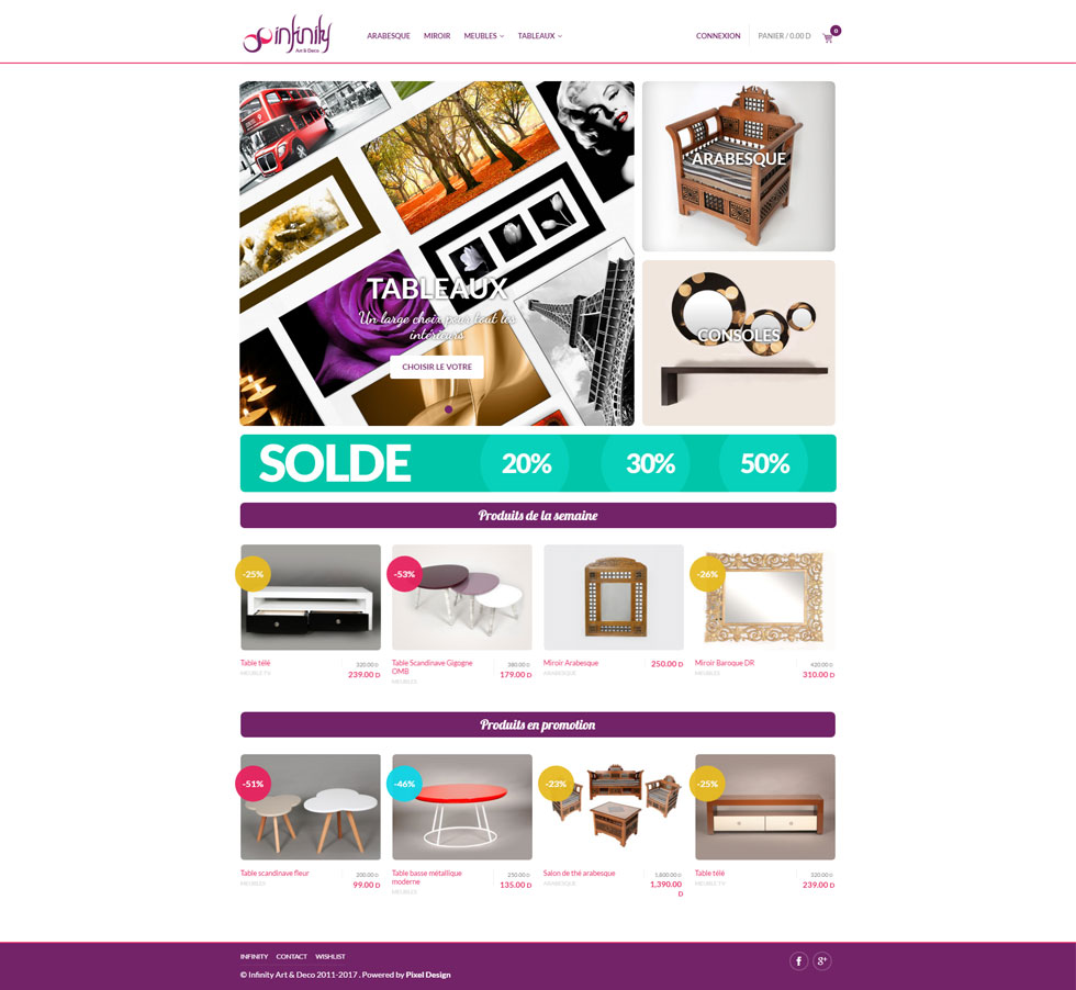 Webdesign Corporate, site e-commerce